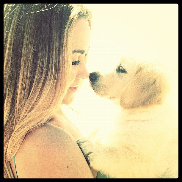 Lauren Conrad posted a sweet photo with one of the pups.