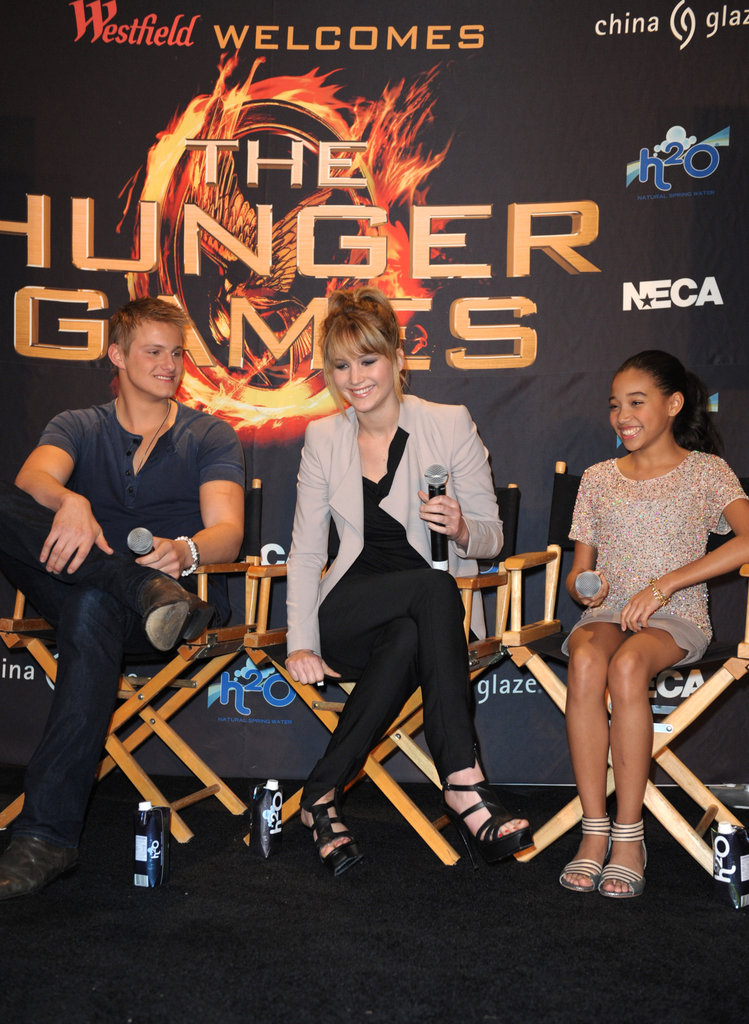 Jennifer Lawrence, Amandla Stenberg, and Alexander Ludwig spoke about their upcoming big-screen project.
