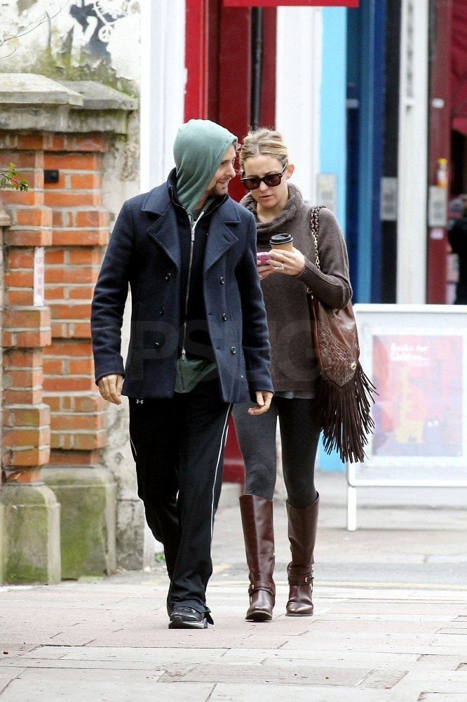 Kate Hudson and Matthew Bellamy hung out in London.