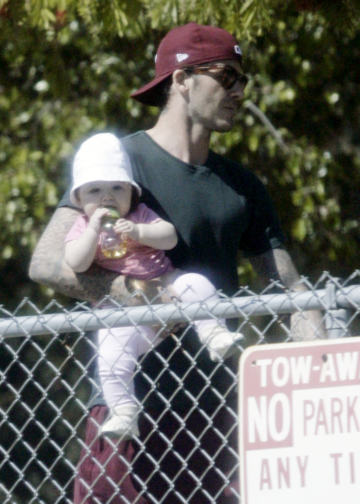 David Beckham spent a day with daughter Harper Beckham.