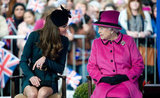 Kate chatted with the queen.
