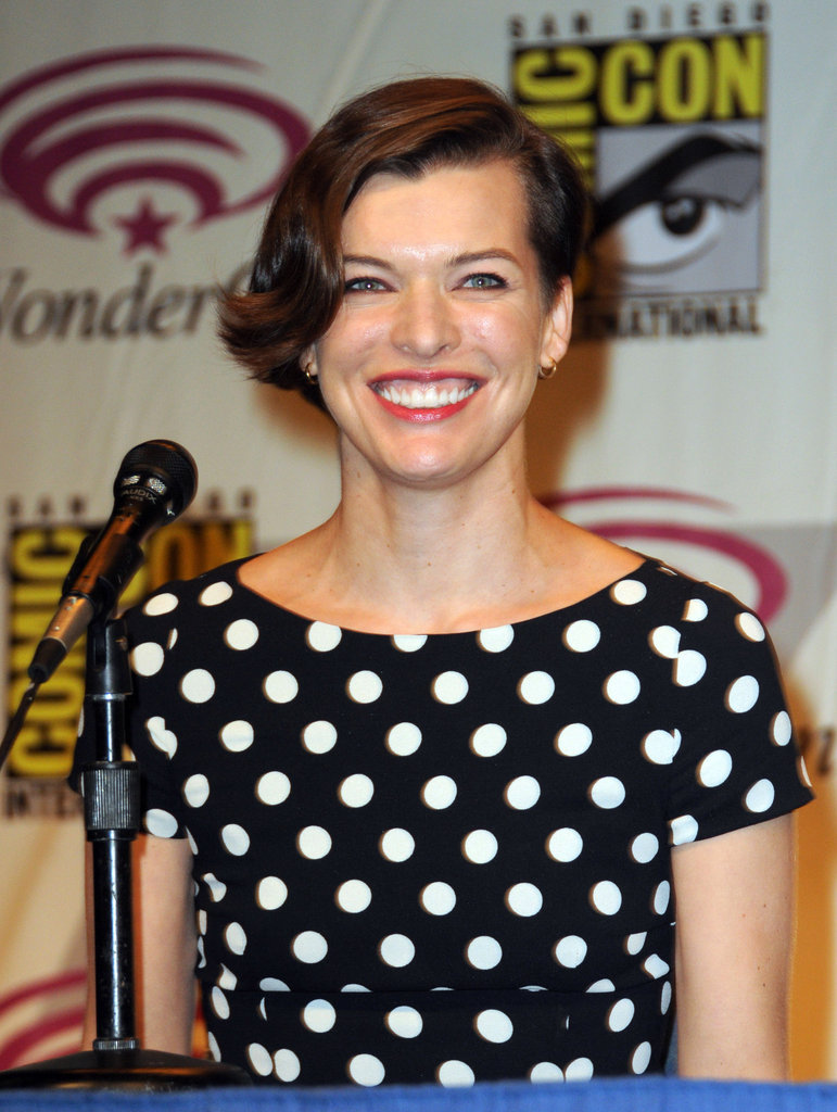Milla Jovovich at WonderCon.