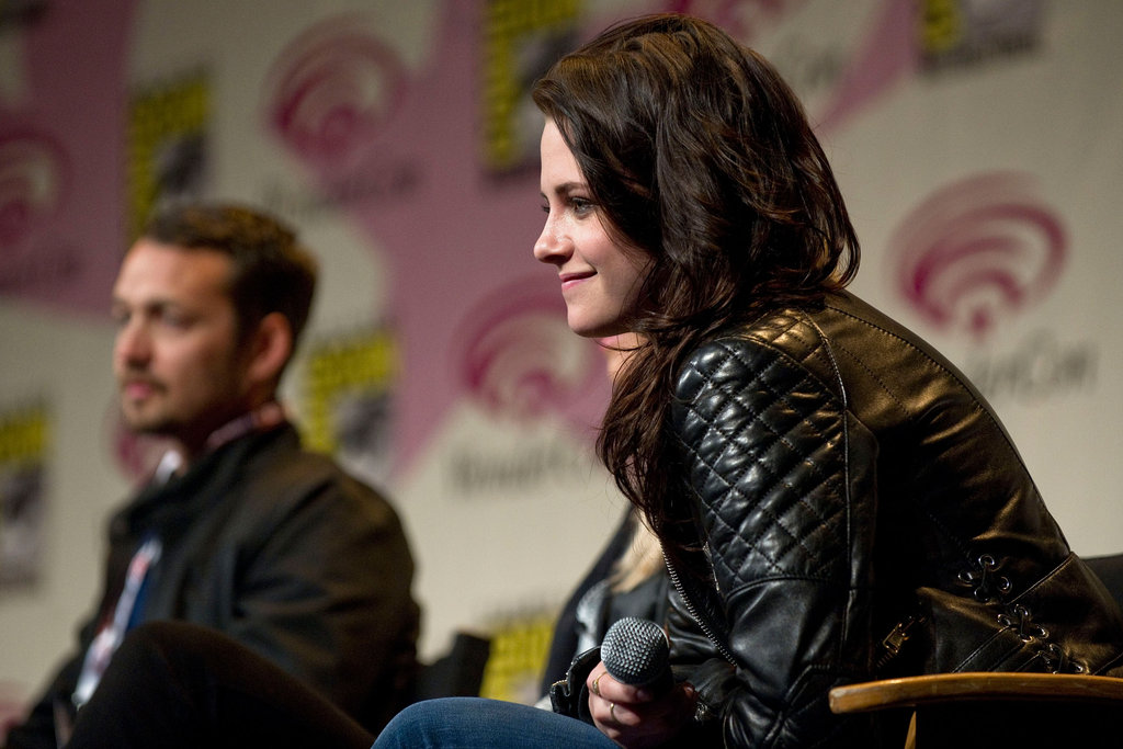 Kristen Stewart on the SWATH panel at WonderCon.