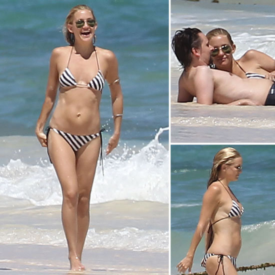 Kate Hudson Splashes Around in a Bikini WIth Shirtless Matthew Bellamy on the Beach
