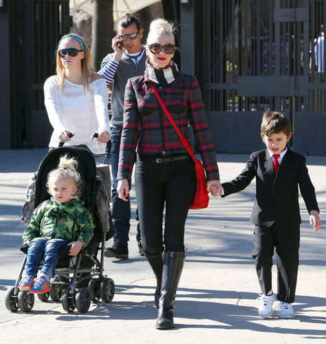 Gwen Stefani Rocks Plaid
