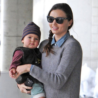 Miranda Kerr and Flynn Wearing Sneakers in NYC Pictures