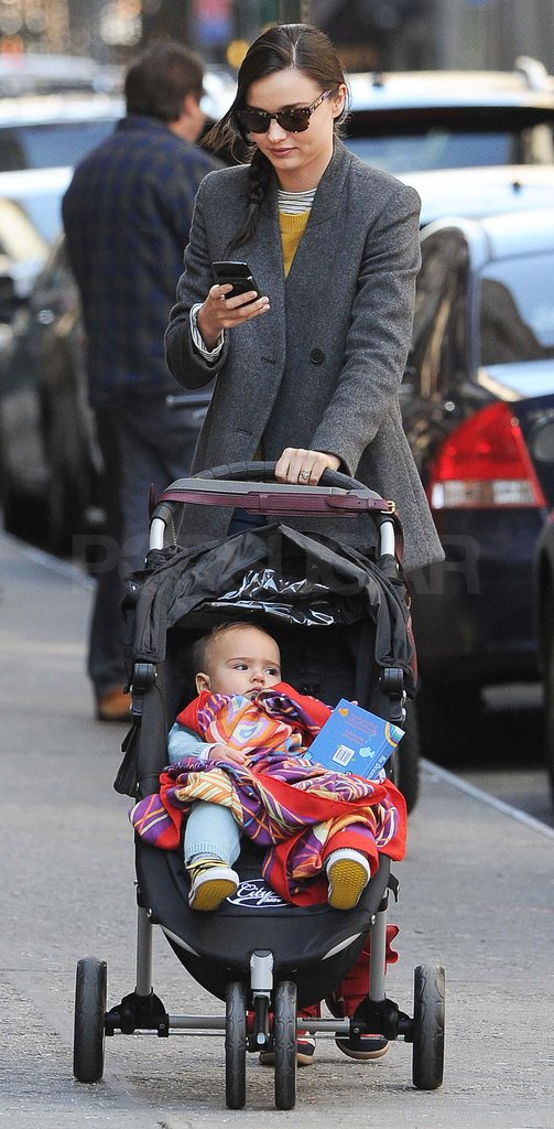 Miranda Kerr pushed Flynn Bloom in NYC.
