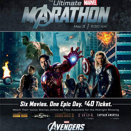 Marvel Movie Marathon at AMC Theatres