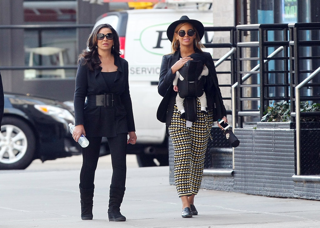 Beyoncé Carries Her Precious Blue Ivy During a Stroll in NYC