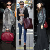 Celebrity It Bag Alert: Miranda Adores Dark-Red Purses