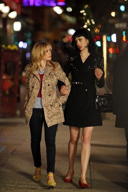 Dreama Walker and Krysten Ritter in Don't Trust the B---- In Apartment 23. Photos copyright 2012 ABC, Inc.