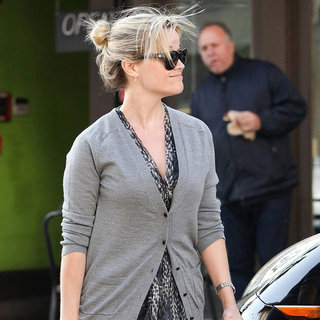 Reese Witherspoon Wearing Booties at M Cafe Pictures
