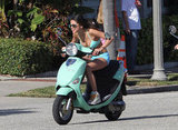 Selena Gomez zoomed off on her two-wheel ride.