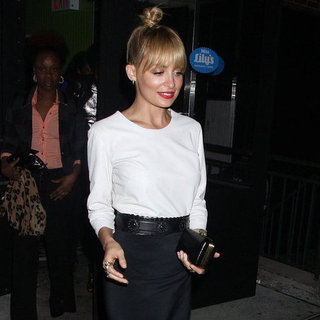 Nicole Richie Wearing Black Skirt in NYC Pictures