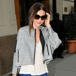 Miranda Kerr in Blue Jeans in NYC Pictures