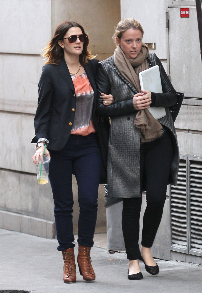 Drew Barrymore went shopping in Paris.