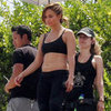 Jennifer Lopez Sports Bra Pictures on Video Set