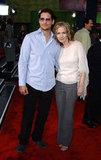 Peter Facinelli and Jennie Garth hit the red carpet for the LA premiere of The Scorpion King in April 2002.