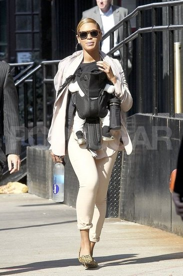 Beyonce Knowles and Blue Carter on a sunny NYC day.