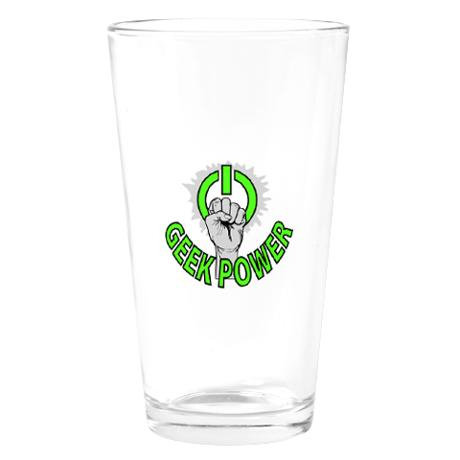 Geek Power Drinking Glass ($14)