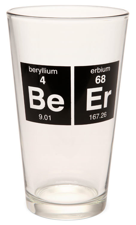 Periodic Beer Glass ($9)