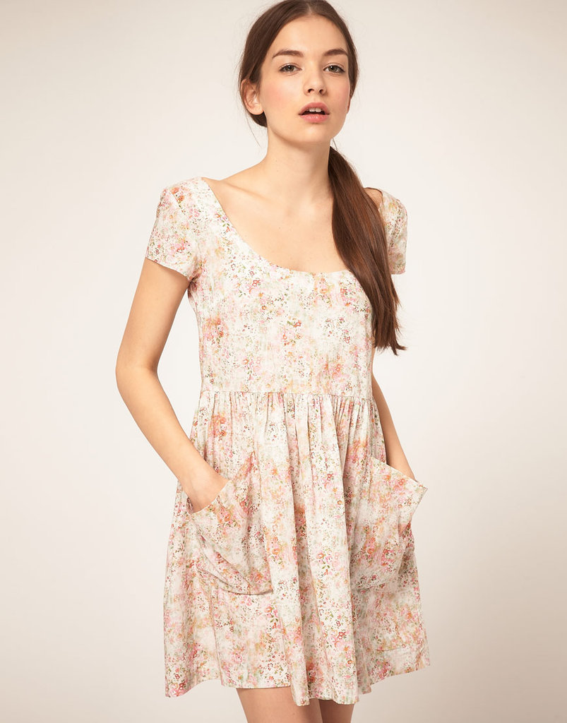 This printed babydoll reminds us of the ones we used to wear in the '90s.  b Store Loves Liberty Kim Dress ($350)