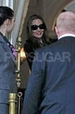 Angelina Jolie returned to her Amsterdam hotel.
