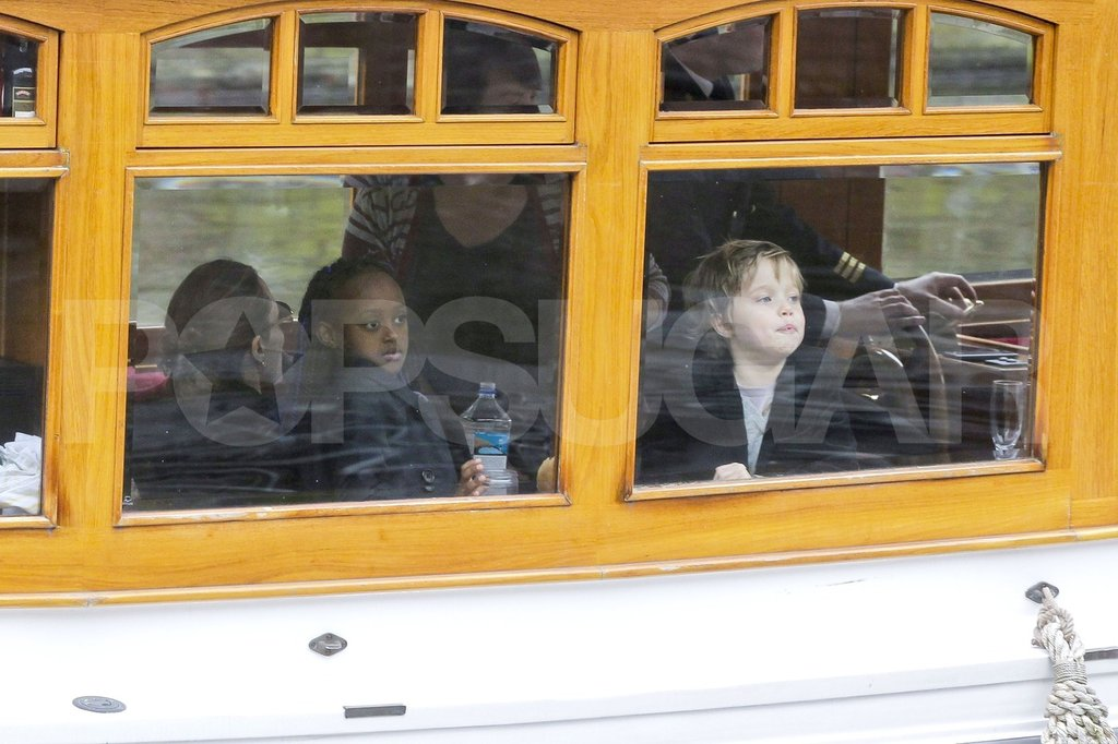 Shiloh Jolie-Pitt and Zahara Jolie-Pitt hung out on an Amsterdam boat.