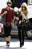 Rachel Zoe and Skyler Berman headed out with Joey Maalouf.