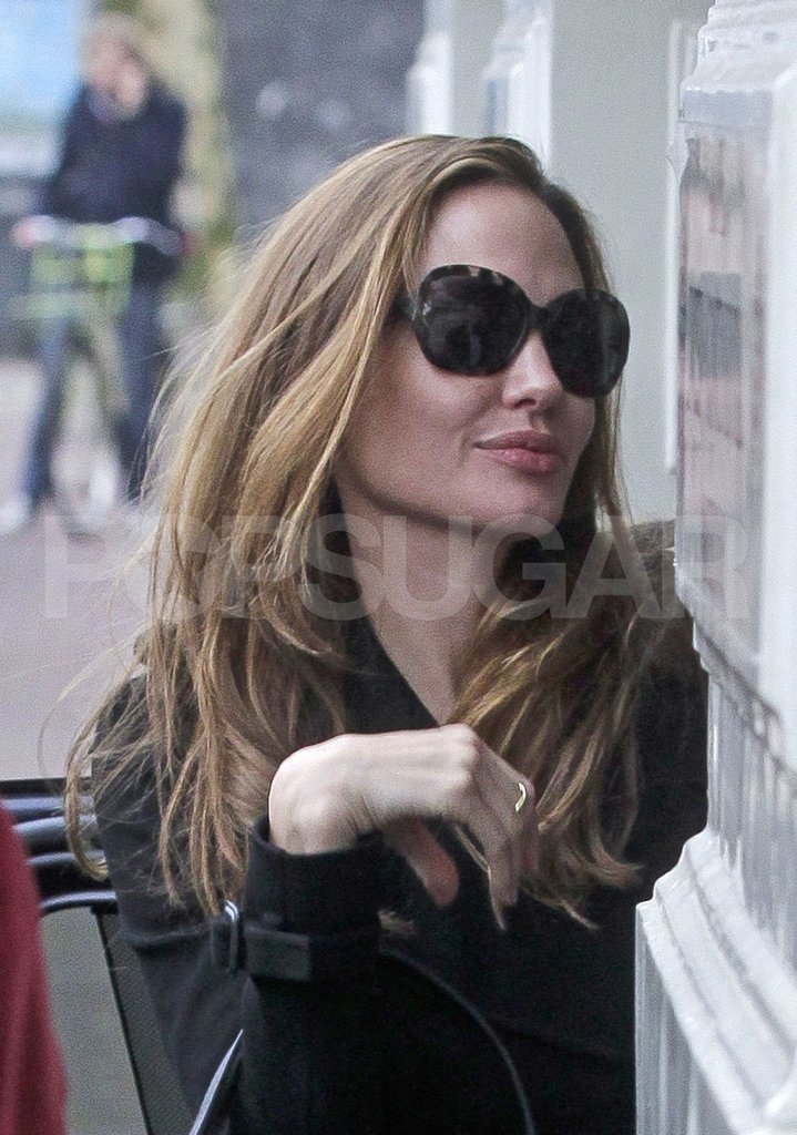Angelina Jolie returned home from an International Criminal Court trial.