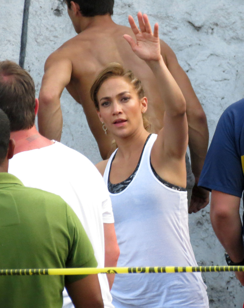 J Lo looked ready to get to work on set in Mexico.