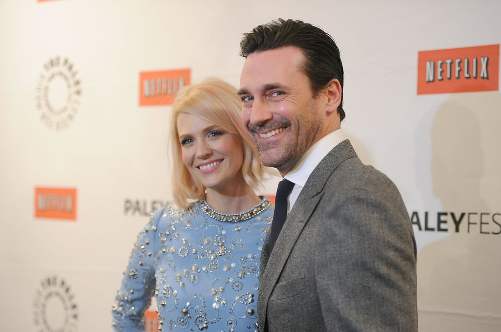 January Jones and Jon Hamm attended the Mad Men PaleyFest panel.