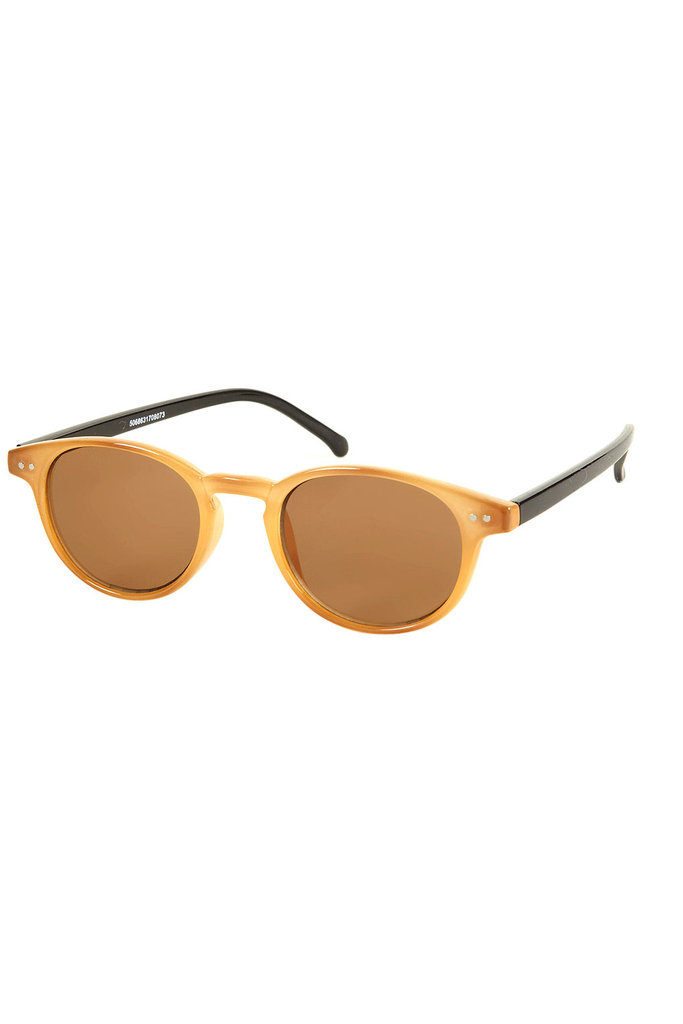 If you love round frames, this pair is fun and affordable.  Topshop Two-Tone Sunglasses ($32)