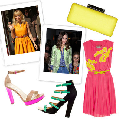 Bright Shoes and Clothes For Spring 2012