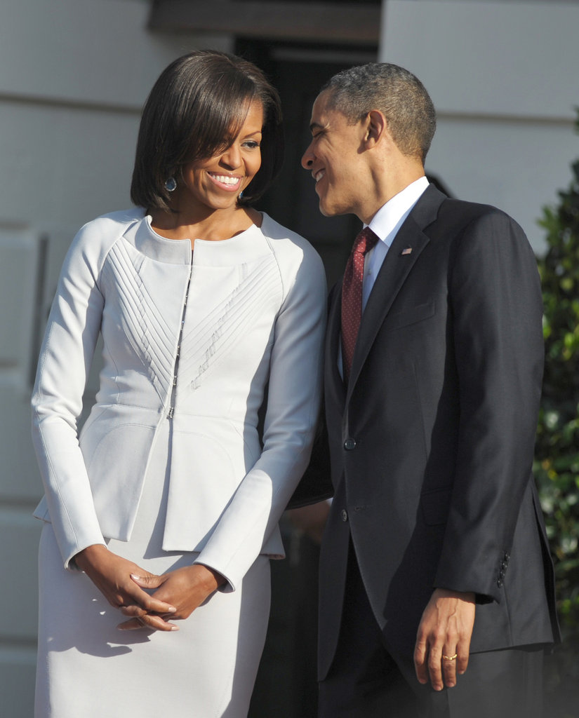 The Obamas have a sweet moment.