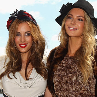 Jennifer Hawkins and Rebecca Judd Model Myer's 2012 Autumn Racing Collection