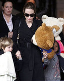Angelina Jolie with Shiloh and Zahara.