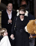 Angelina Jolie with Shiloh in Amsterdam.