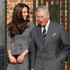 Kate Middleton Pictures in Grey Orla Kiely Dress with Prince Charles and Camilla