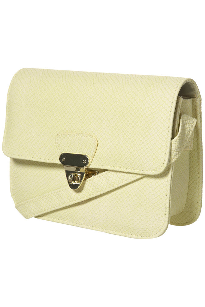 Topshop Lemon Snake Twist Lock Bag ($50)
