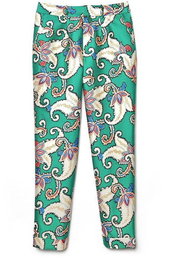 From the silk fabric to the tiger lily floral print, these cropped trousers are perfect in every way.  Thakoon Tiger Lily Pant ($990)