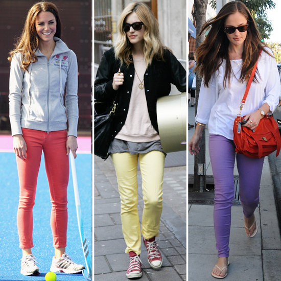 Kate Middleton, Minka Kelly Wear Pastel Denim for Spring 2012