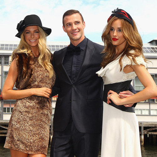 Jennifer Hawkins Pictures with Kris Smith and Rebecca Judd at Myer Autumn 2012 Racing Launch
