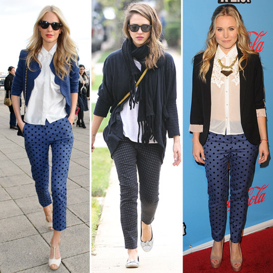 Celebrity Trend Alert: Polka-Dot Legs Lend Lots of Whimsy