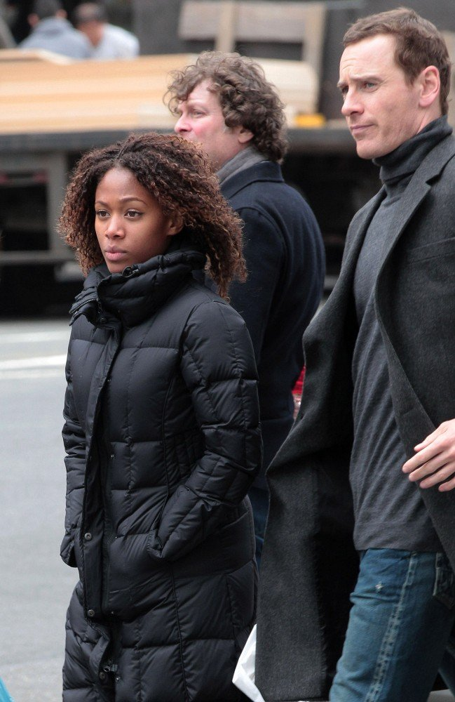 Michael Fassbender and Nicole Beharie out in NYC.