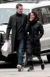 Michael Fassbender and Nicole Beharie take a stroll in SoHo, NYC.