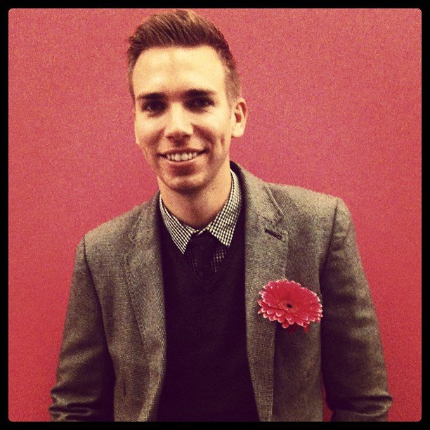 Our own dannyfeekes looked dapper with a gentlemanly take on florals.