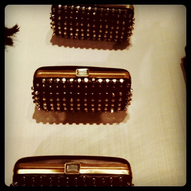 We promptly added these covetable clutches to our wish list after spying them at Zara's Fifth Ave store opening.