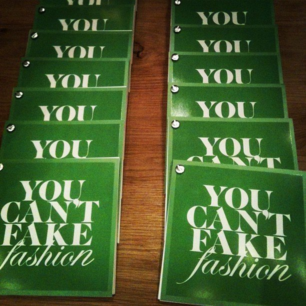 You really can't fake fashion — that was the name of the game at the design your own tote for CFDA and eBay fashion event.