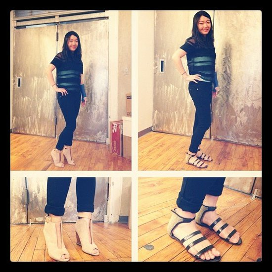 Our copyeditor aliciaql got in on new-shoes theme with a snap of her Jason Wu sandals.